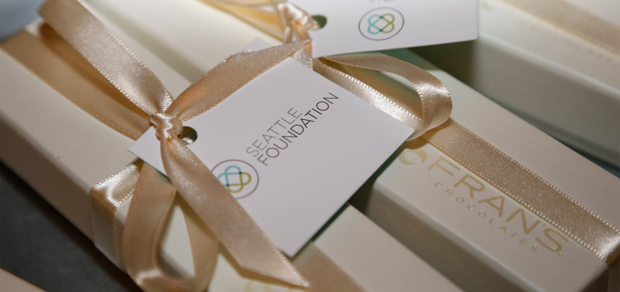 Seattle Foundation branded chocolate giveaways