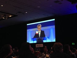 Ann Ramsay Jenkins accepts the award for outstanding philanthropist