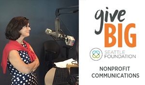mary grace on radio for givebig small banner