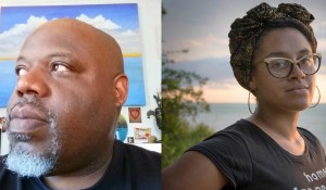 Artists Inye Wokoma & Sharita Towne headshots