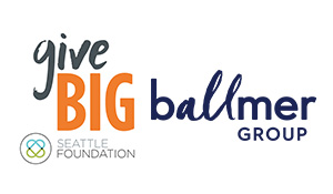 Ballmer Group Logo with givebig logo in small banner