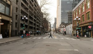 downtown Seattle empty