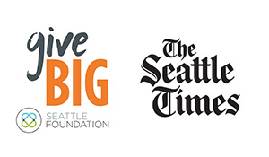 The Seattle Times logo with givebig logo small banner