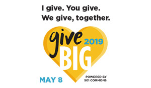 "GiveBIG logo with text ""I give. You give. We give, together. May 8"""