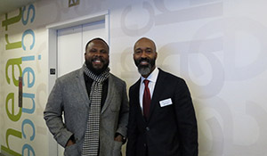 Artist Hasaan Kirkland, left, pictured with Cedric Davis, Senior Philanthropic Advisor