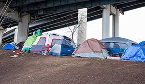 Tent city under the highway
