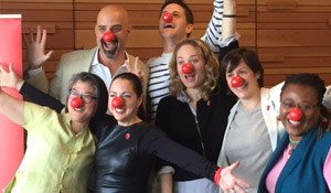 Panelists celebrate Red Nose Day's Announcement of $225,000 in matching grants to GIVEBIG nonprofits addressing child poverty