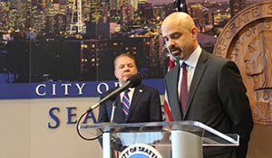 Tony Mestres and Mayor Murray speak at press conference