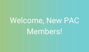 text: Welcome, New PAC Members!
