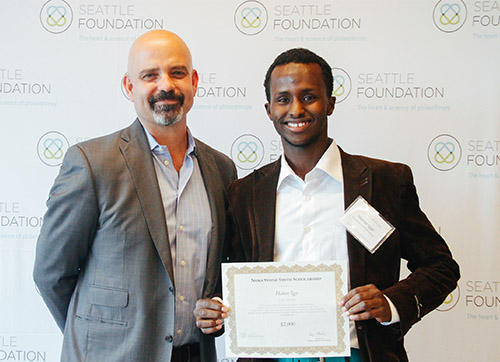 Tony and scholarship recipient