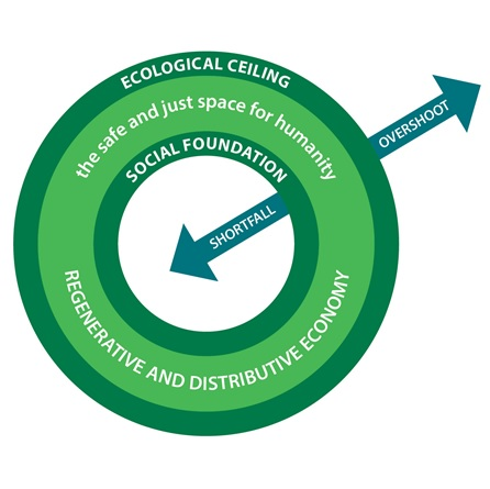 doughnut economics graphic