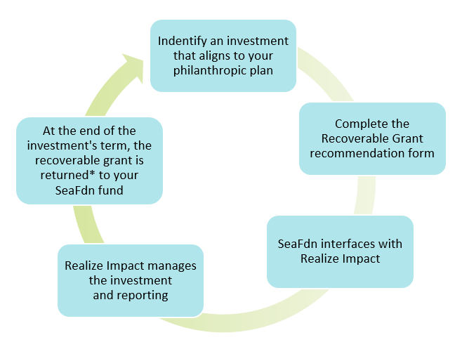 flow chart that simplifies the process for impact investing